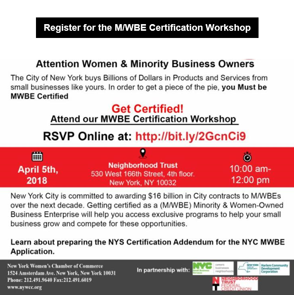 Register For The Mwbe Certification Workshop Suffolk County